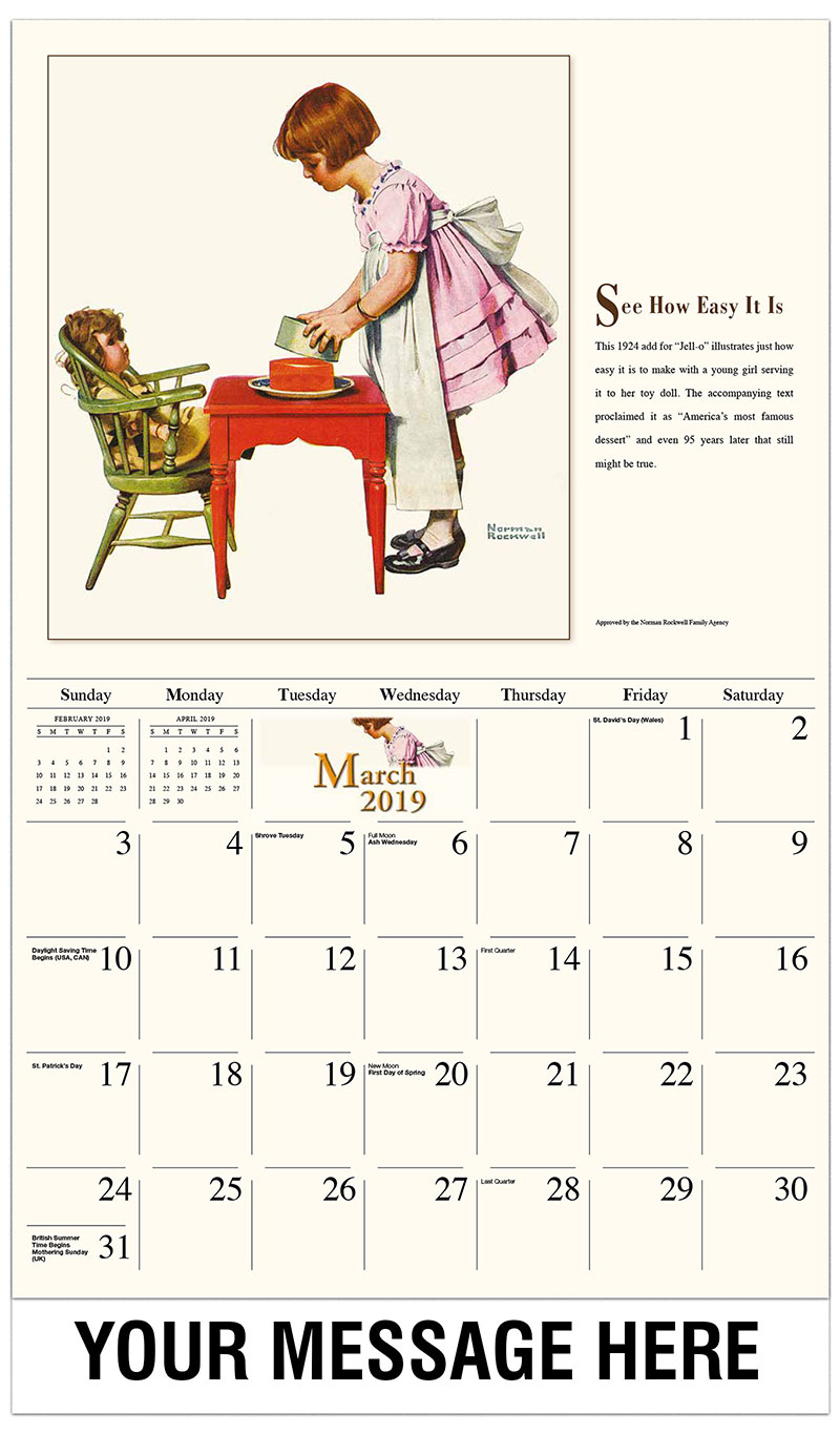 2019 Promo Calendar - See How Easy It Is - March