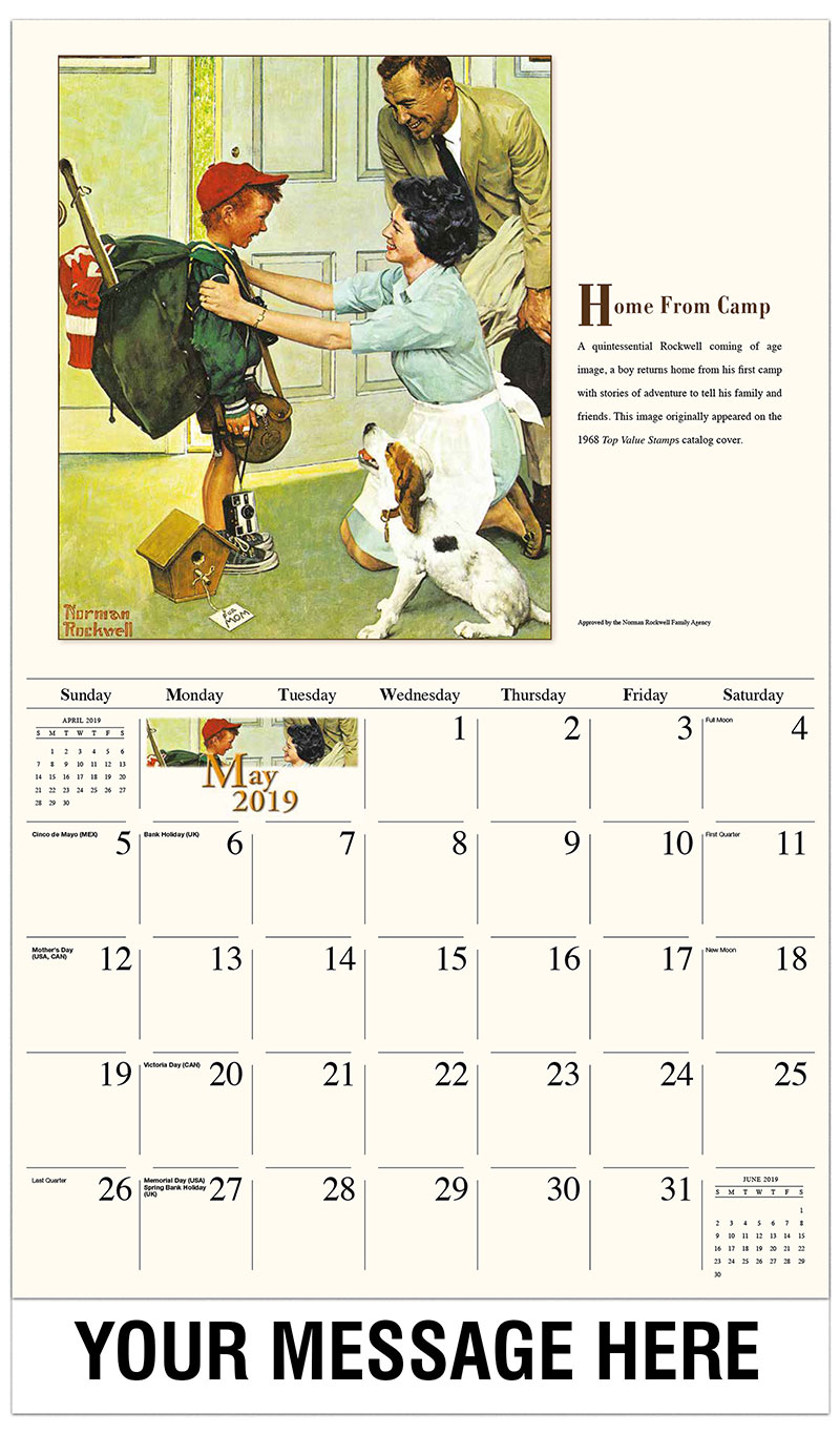 2019 Promo Calendar - Home From Camp - May