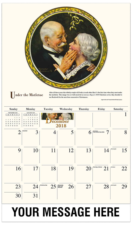 2019 Promotional Calendar - Under The Mistletoe - December_2018