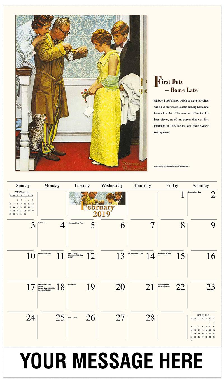 2019 Promotional Calendar - First Date - February