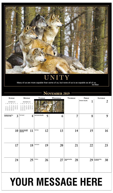 2019 Advertising Calendar - Wolf Pack - November