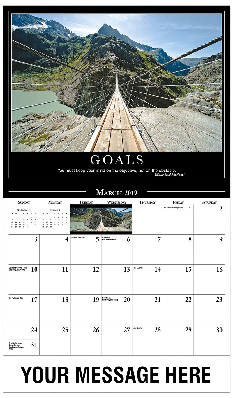 Organization Event Calendar : Motivational quotes calendar ¢ promotional