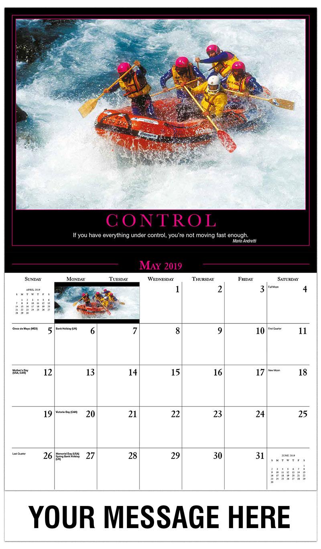 2019 Promo Calendar - Rafting - May