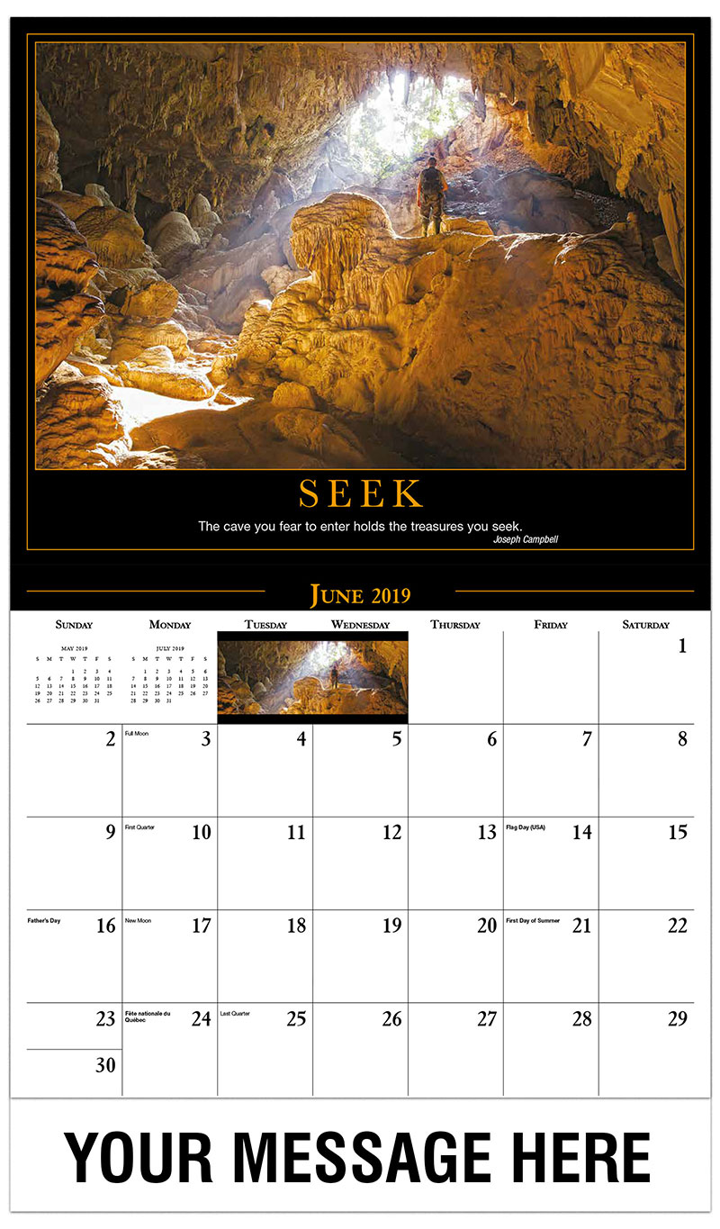 2019 Promo Calendar - Cave and Hiker - June