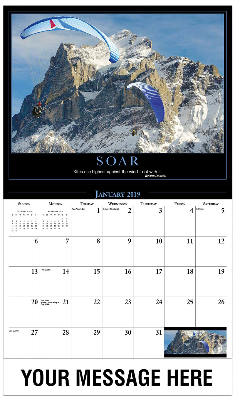 2019 Promotional Calendar - Paragliders - January