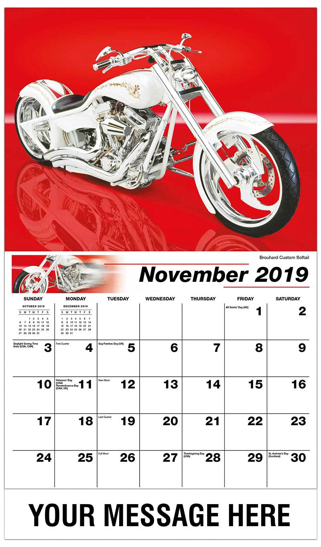 2019 Advertising Calendar - Brouhard Custom Softail - November