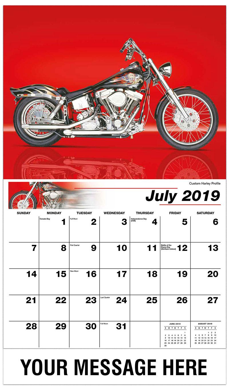 2019 Promo Calendar - Custom Harley Profile - July