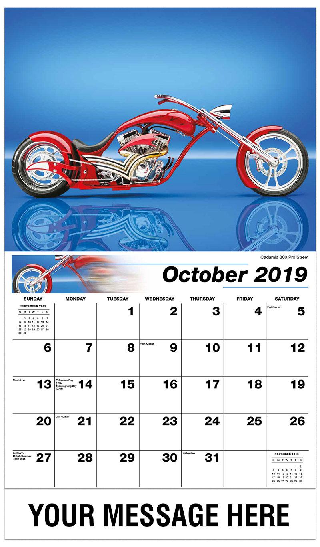 2019 Promo Calendar - Cadamia 300 Pro Street - October