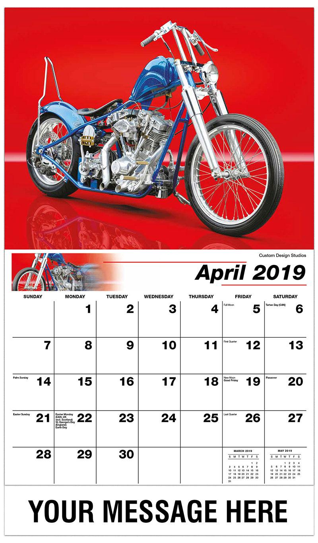 2019 Promotional Calendar - Custom Design Studios - April