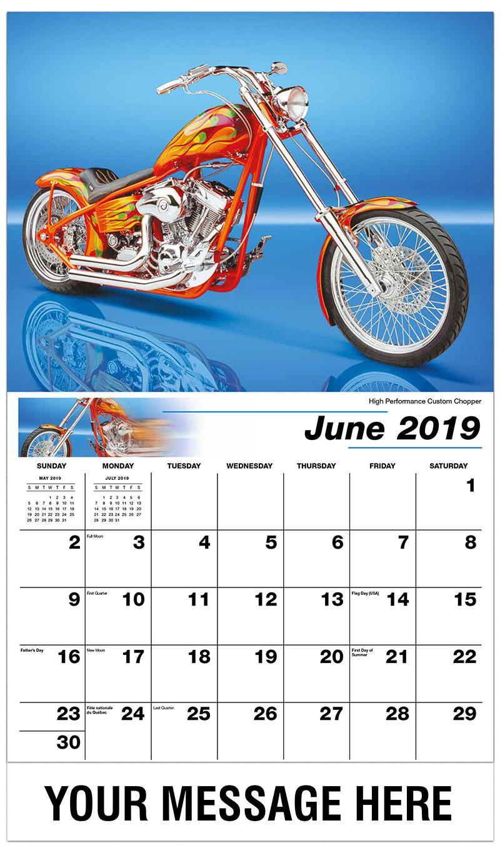 2019 Promotional Calendar - High Performance Custom Chopper - June