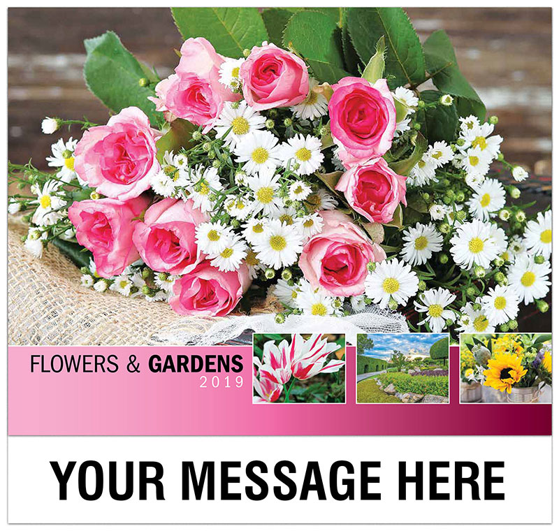 Calendar Flowers : Flowers and gardens promo calendar ¢ business