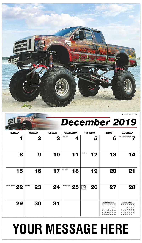 2019 Advertising Calendar - 2010 Ford F-250 - December_2019