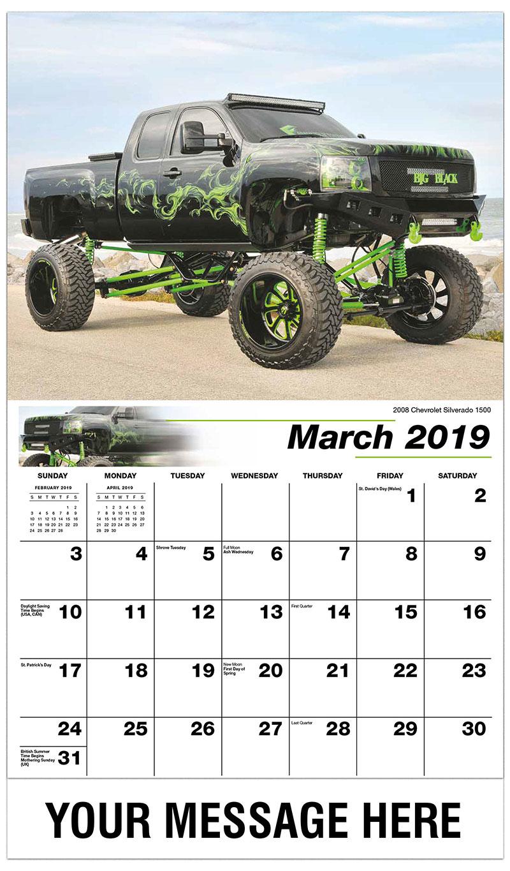 2019 Promo Calendar - 2008 Chevrolet Silverado 1500 - March