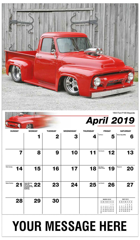 2019 Promo Calendar - 1954 Ford F100 Stepside - April