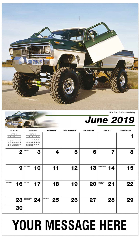 2019 Promo Calendar - 1970 Ford F250 4X4 Gullwing - June