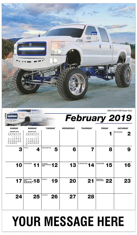 2019 Promotional Calendar - 2004 Ford F-250 Super Duty - February