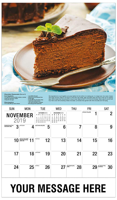 2019 Advertising Calendar - Chocolate Cheesecake - November
