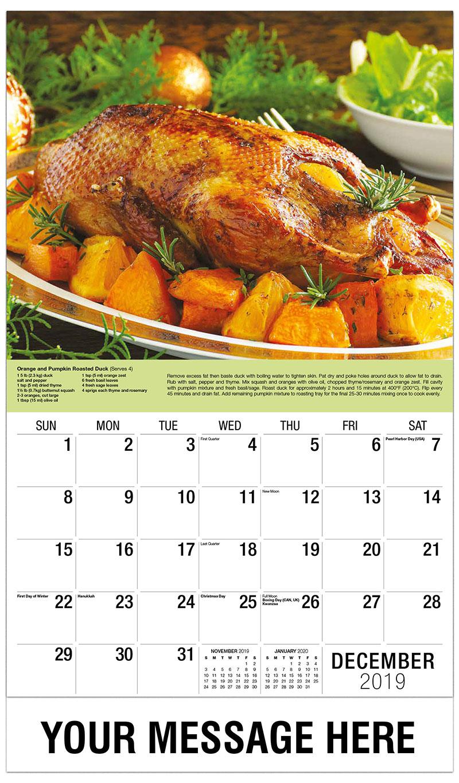 2019 Advertising Calendar - Pumpkin and Oranges Roast Duck - December_2019