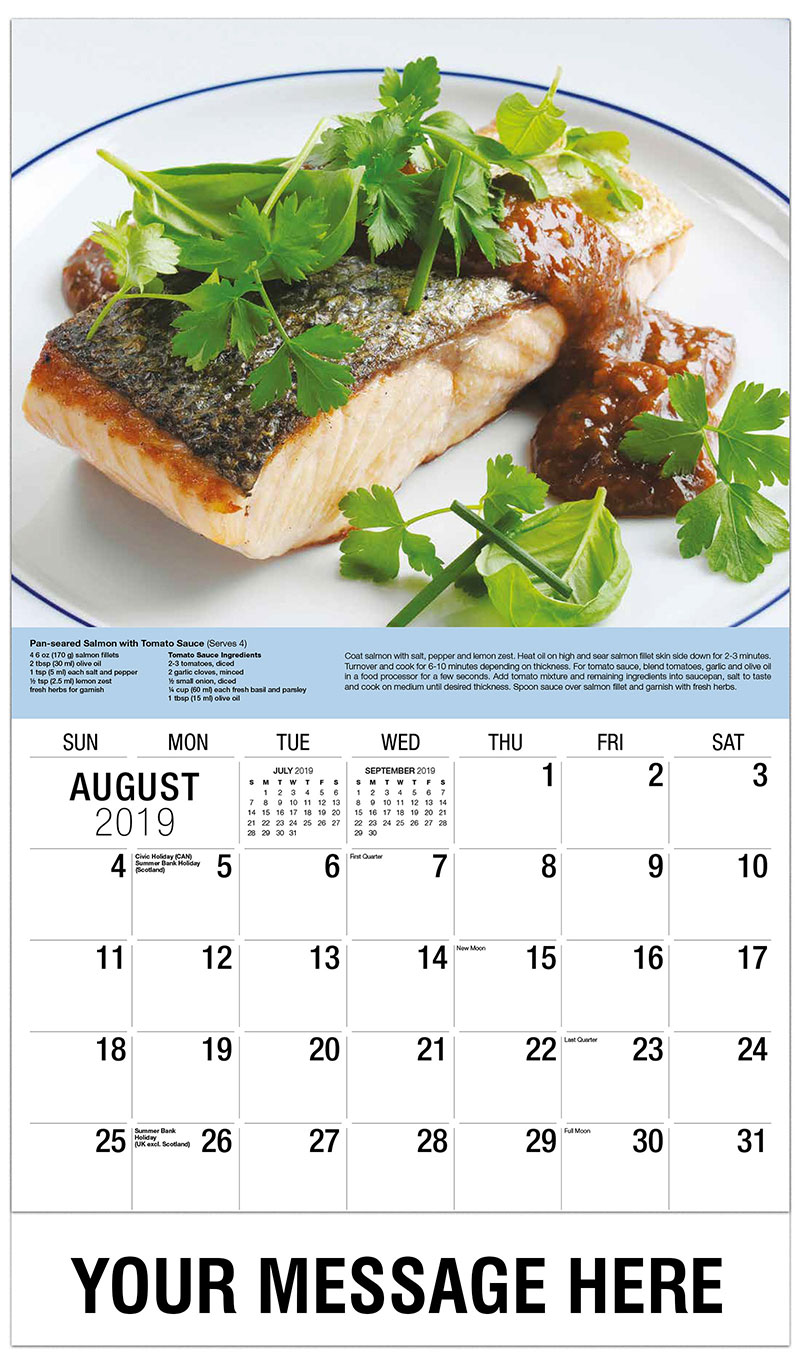 2019 Business Advertising Calendar - Slow-Cooked Buttery Herb and Garlic Chicken - August