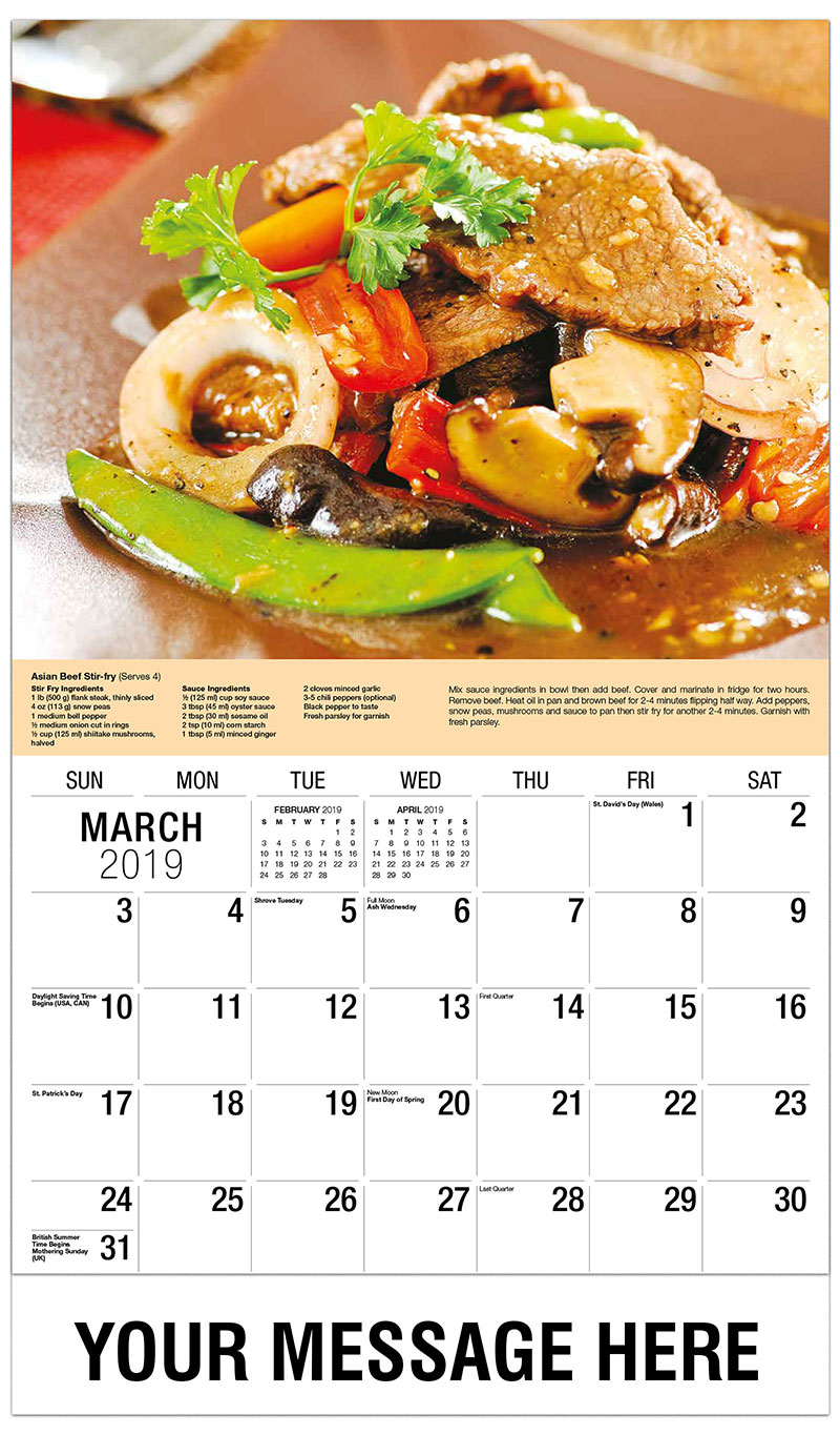 2019 Promo Calendar - Stir-Fry with Beef and Vegetables - March