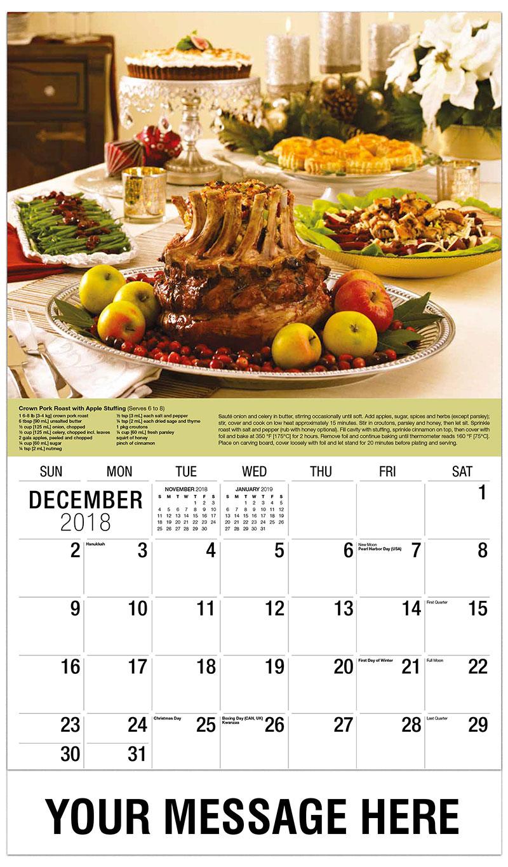 2019 Promotional Calendar - Pork Roast - December_2018