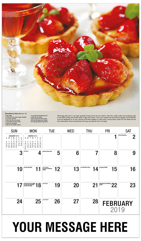 2019 Promotional Calendar - Strawberry Tartlets - February