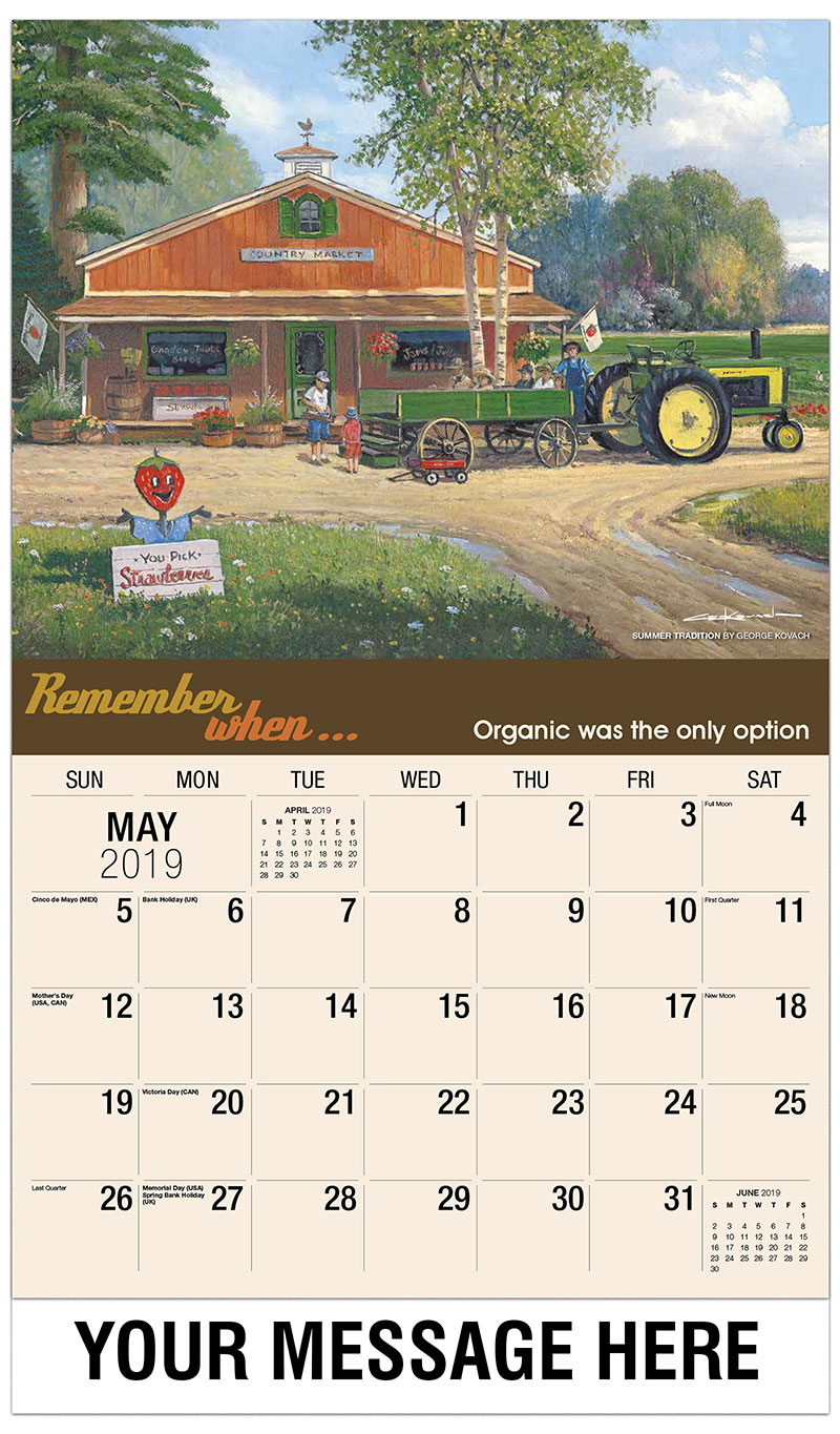 2019 Promotional Calendar - Summer Tradition By George Kovach - May