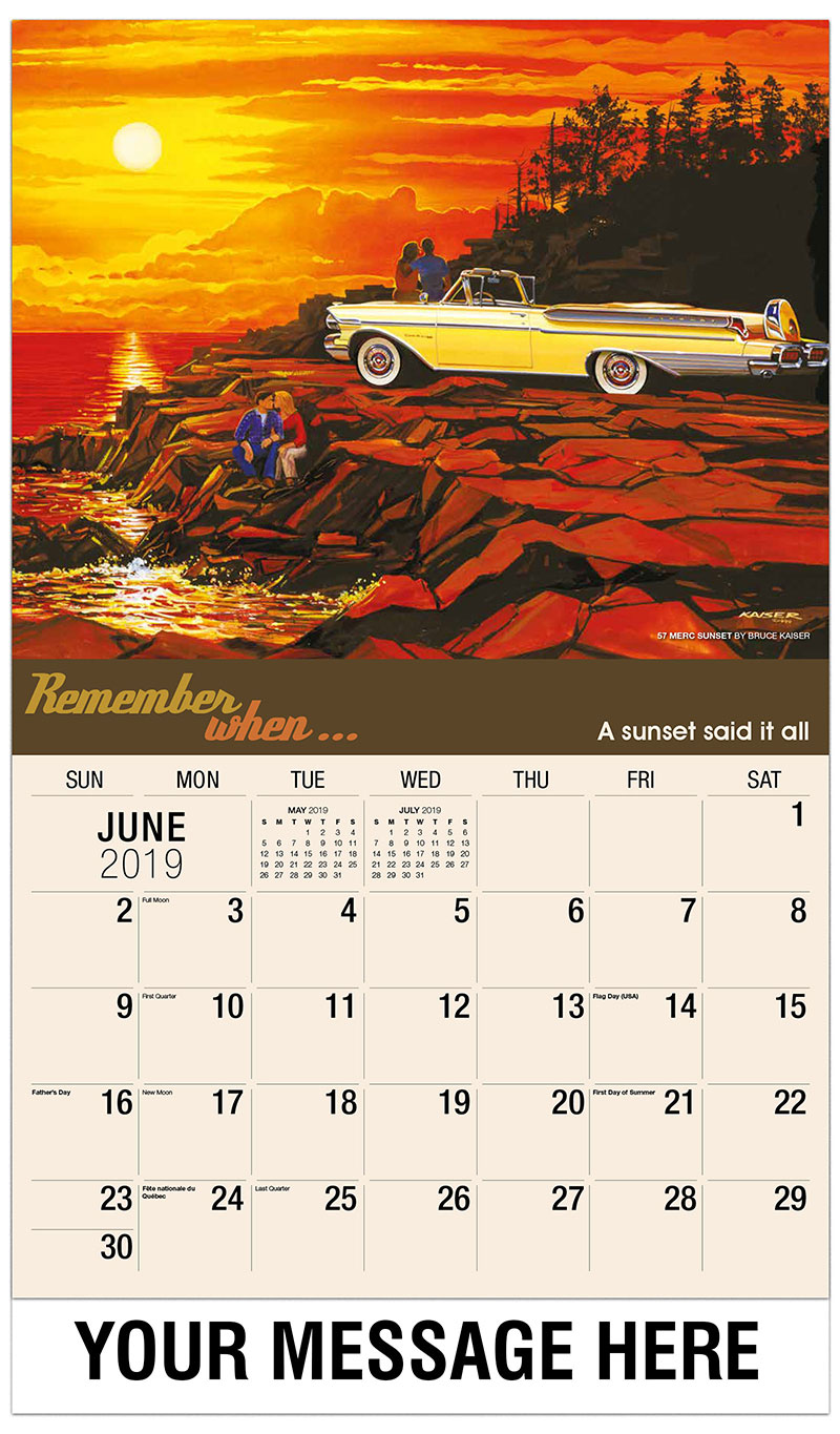 2019 Promotional Calendar - 57 Merc Sunset By Bruce Kaiser - June