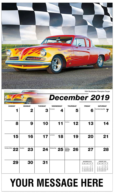 2019 Advertising Calendar - 1954 Studebaker Champion Coupe - December_2019