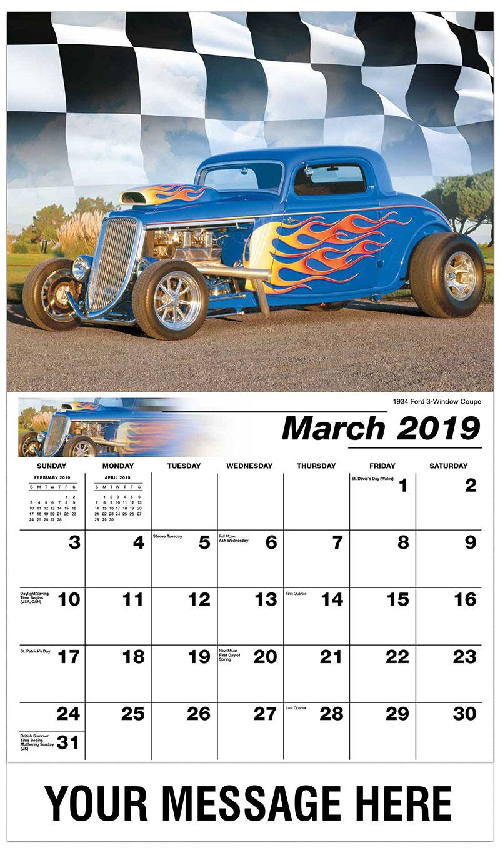 hot rods muscle cars calendar  business promotional calendar