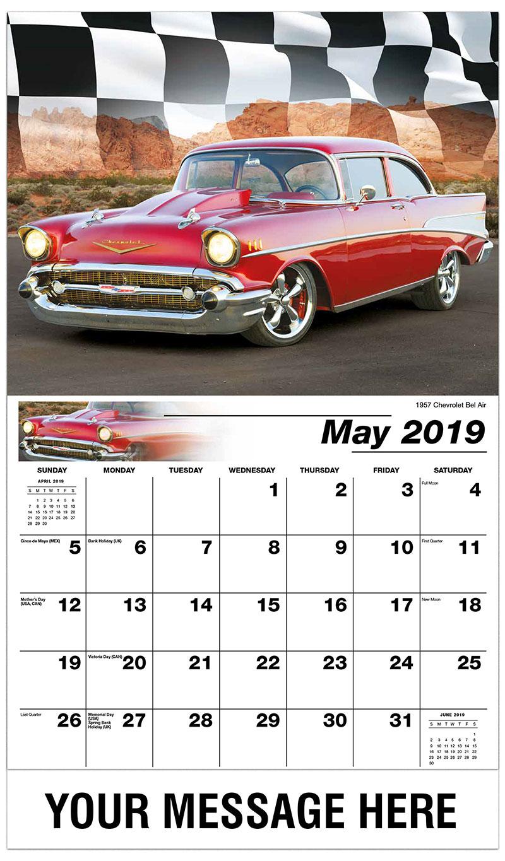 2019 Promo Calendar - 1957 Chevrolet Bel Air - May