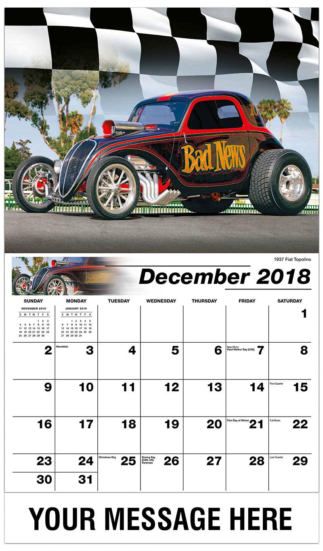2019 Promotional Calendar - 1937 Fiat Topolino - December_2018
