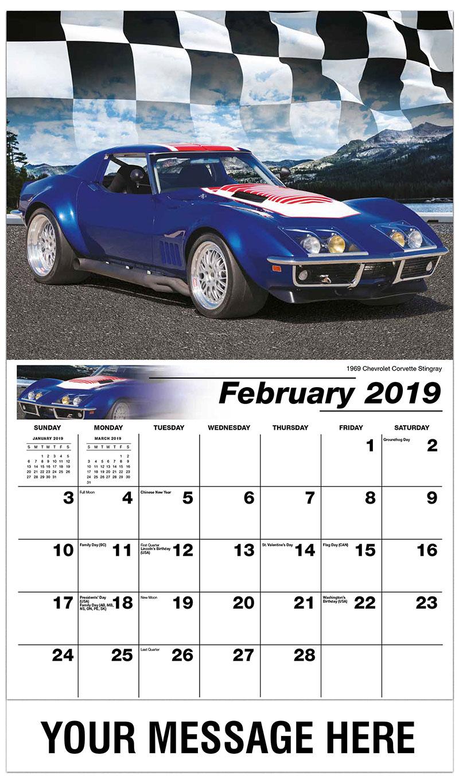 2019 Promotional Calendar - 1969 Chevrolet Corvette Stingray - February