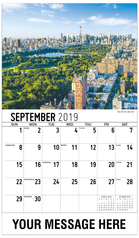 2019 Business Advertising Calendar - New York City, New York - September