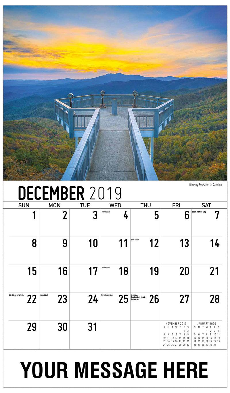 2019 Advertising Calendar - Blowing Rock, North Carolina - December_2019