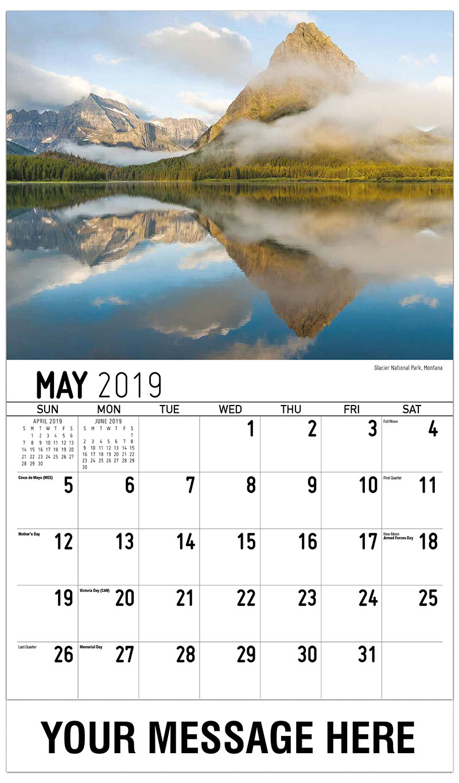 2019 Promotional Calendar - Glacier National Park, Montana - May