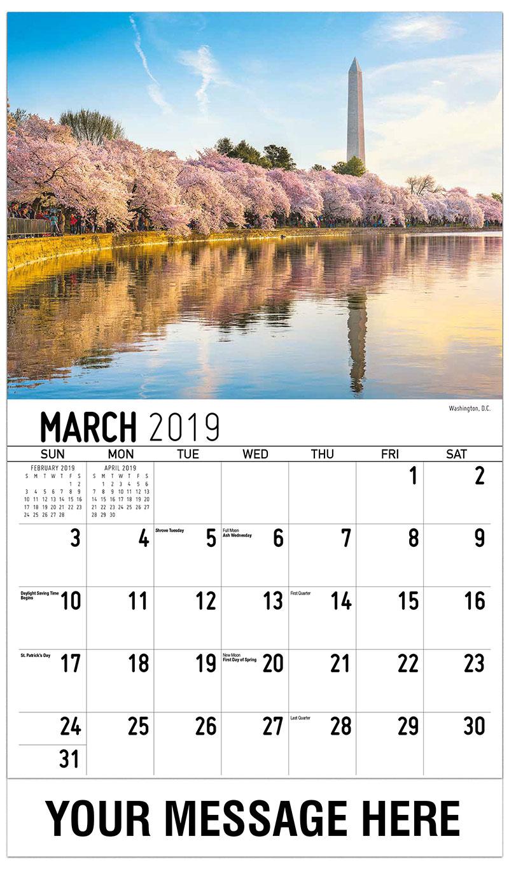 2019 Promotional Calendar - Washington, D.C. - March