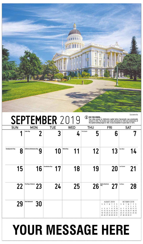 2019 Business Advertising Calendar - Sacramento - September