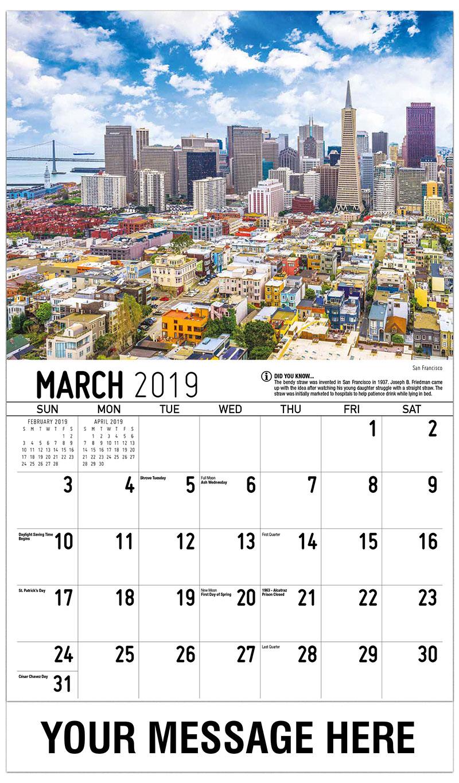 scenes of california promotional calendar