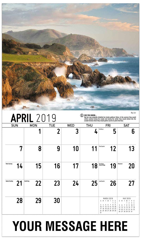 2019 Promo Calendar - Big Sur - April