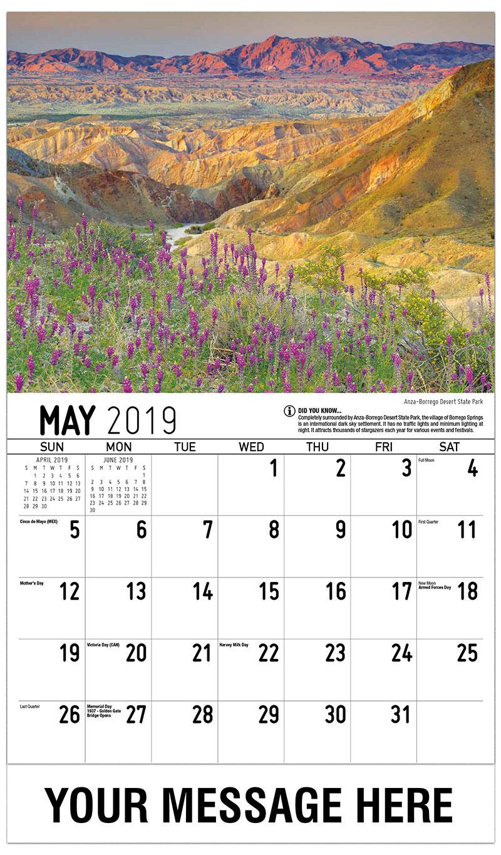 2019 Promo Calendar - Anza-Borrego Desert State Park - May