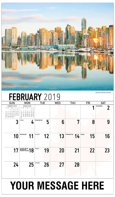 2019 Business Advertising Calendar - Vancouver, British Columbia - February