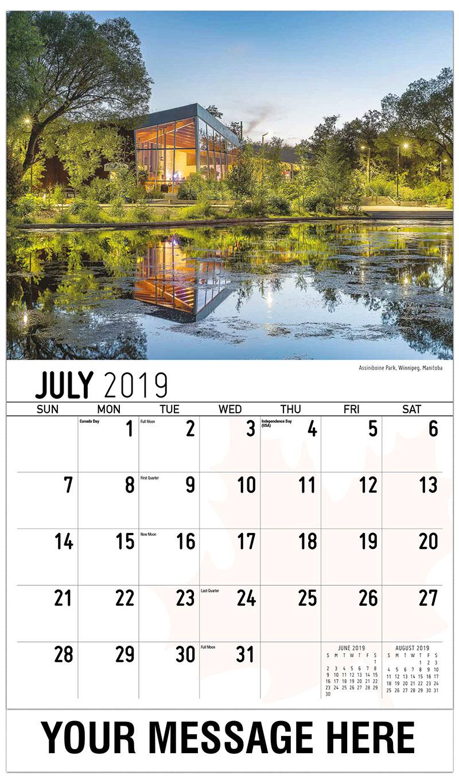 2019 Promo Calendar - Assiniboine Park, Winnipeg, Manitoba - July