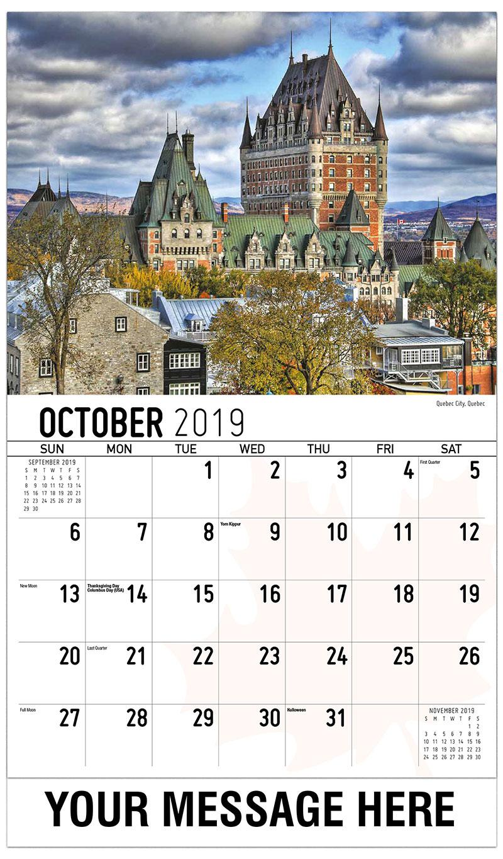 2019 Promo Calendar - Quebec City, Quebec - October