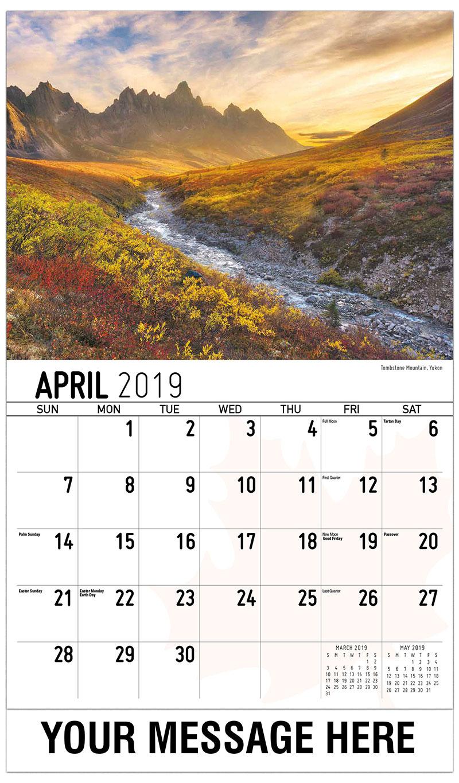 2019 Promotional Calendar - Tombstone Mountain, Yukon - April