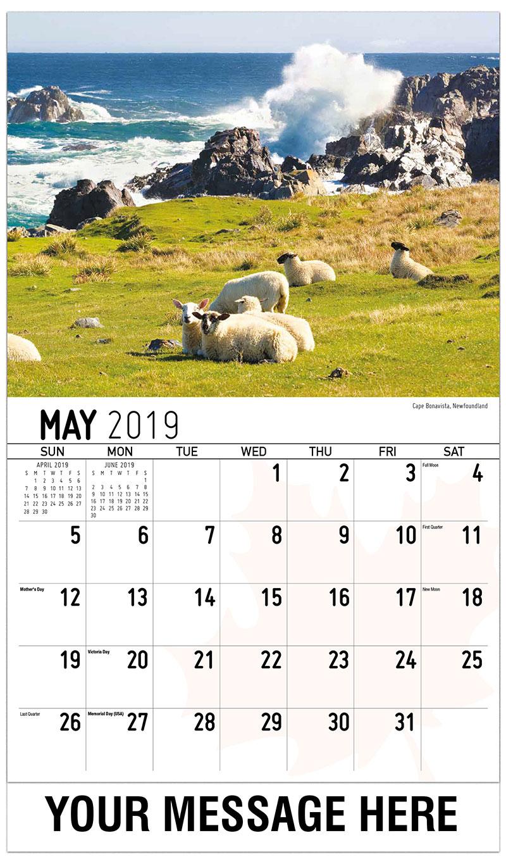 2019 Promotional Calendar - Cape Bonavista, Newfoundland - May