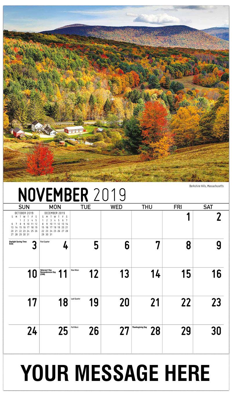 2019 Advertising Calendar - Berkshire Hills, Massachusetts - November