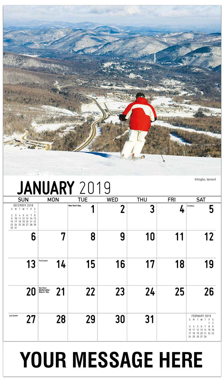 2019 Promo Calendar - Killington, Vermont - January