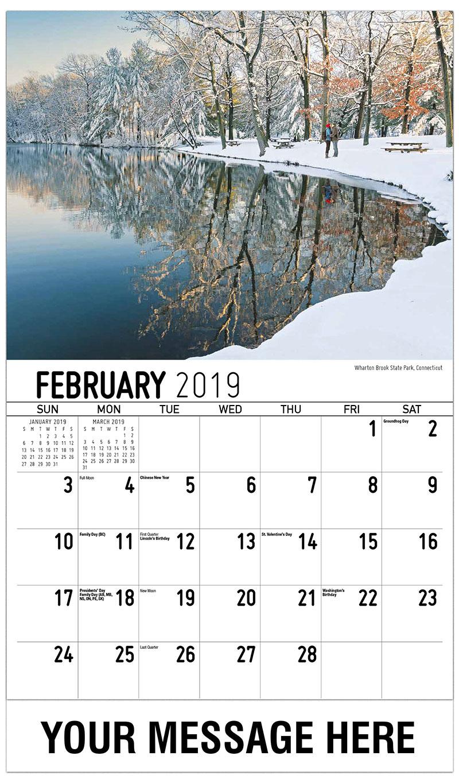 2019 Promo Calendar - Wharton Brook State Park, Connecticut - February