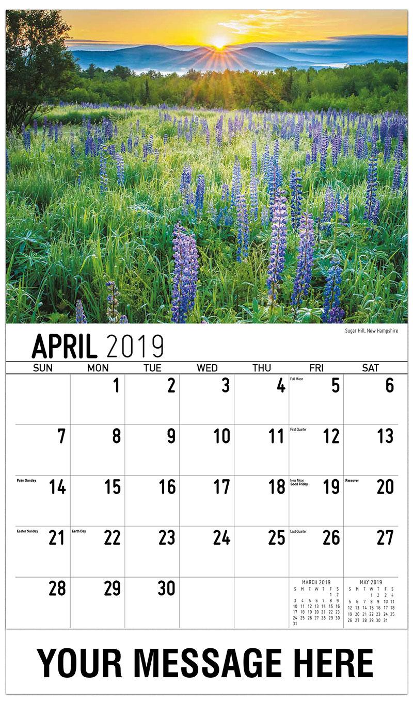 2019 Promotional Calendar - Sugar Hill, New Hampshire - April